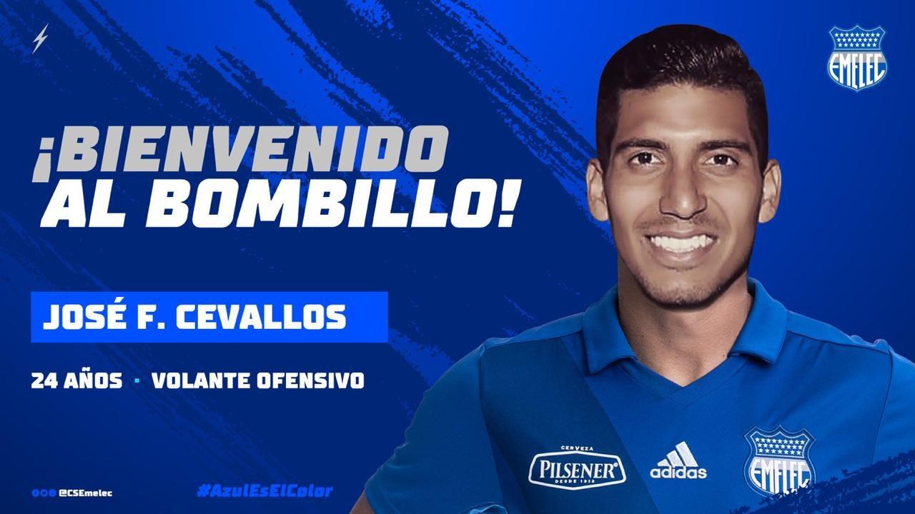 Photo of Emelec adquiere los derechos del volante José Cevallos Enríquez