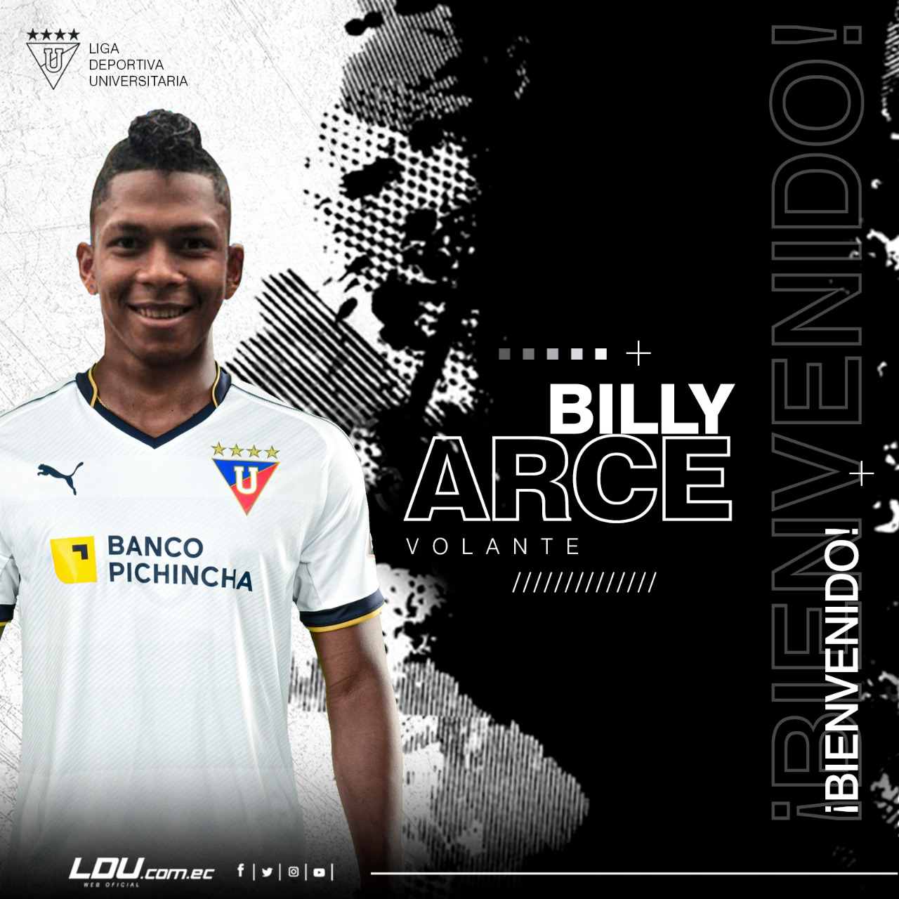 Photo of Billy Arce firmó contrato con LDUQ para la temporada 2020