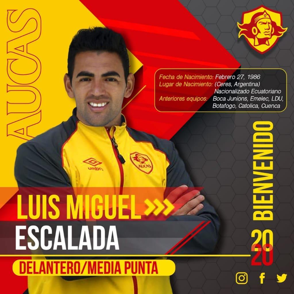 Photo of FICHAJES:  Luis Miguel Escalada es nuevo jugador de Aucas