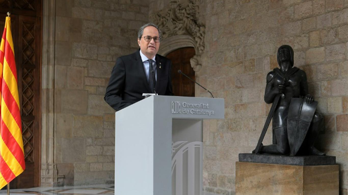 Photo of El presidente catalán anuncia elecciones regionales en unos meses por la desunión separatista