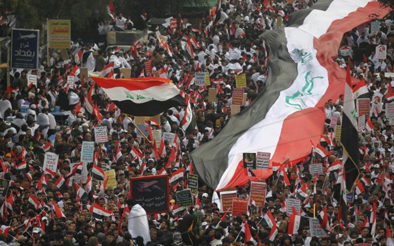 Photo of Dos manifestantes muertos en Irak durante protesta para pedir retirada de tropas de EEUU