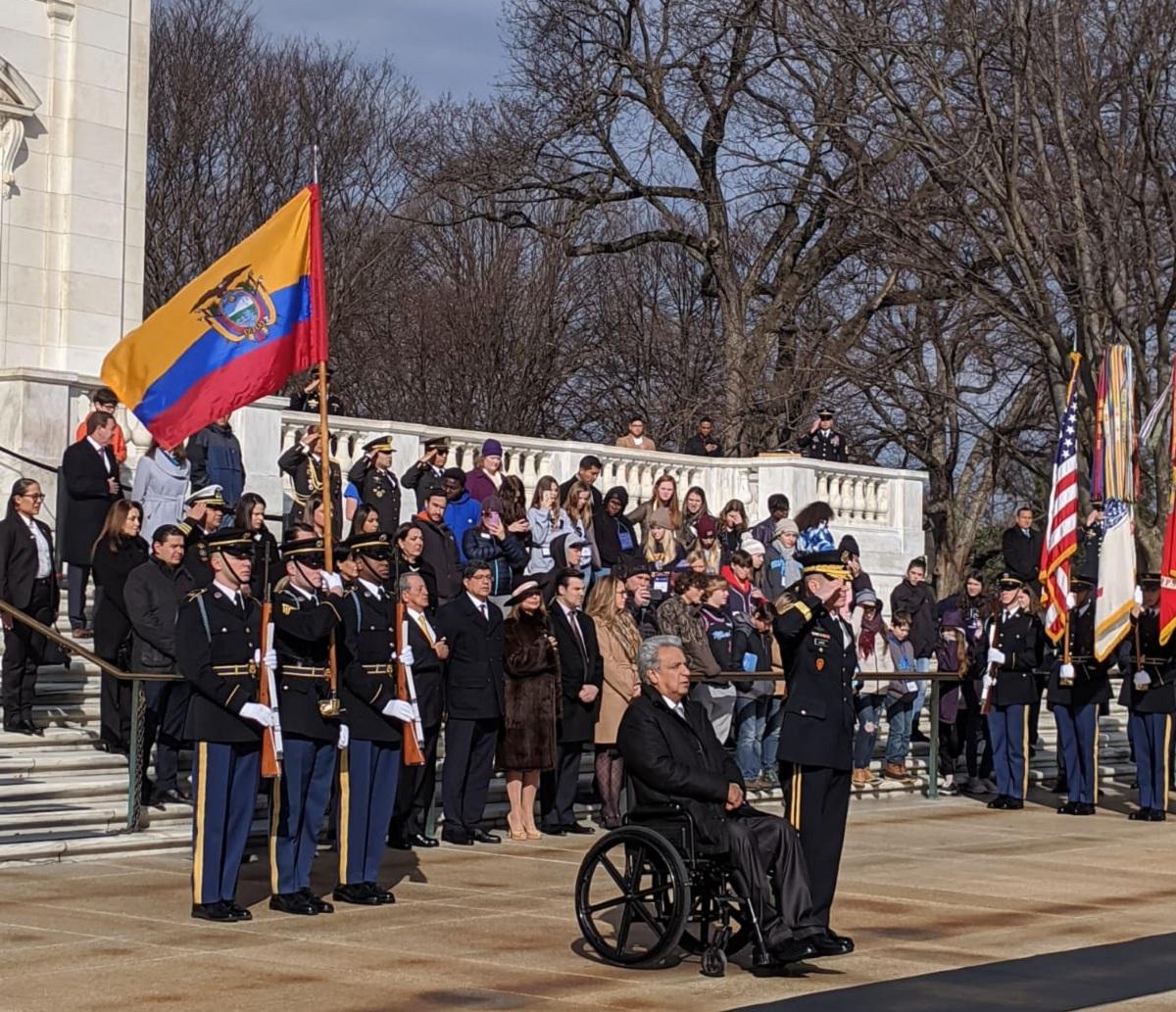 Photo of Lenín Moreno honra en EEUU a militares que participaron en la Guerra de Independencia