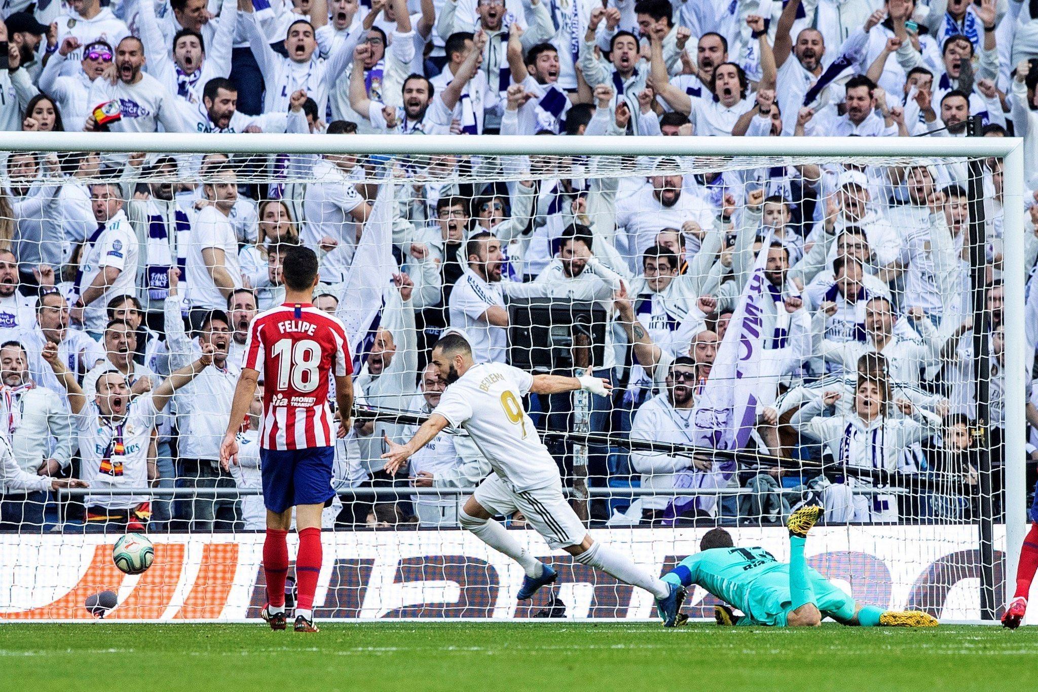 Photo of El Derbi se pintó de Blanco: Con gol de Benzema, Real Madrid venció (1 a 0) al Atlético de Madrid
