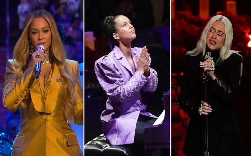 Photo of Beyoncé, Alicia Keys y Christina Aguilera rinden tributo a Kobe Bryant