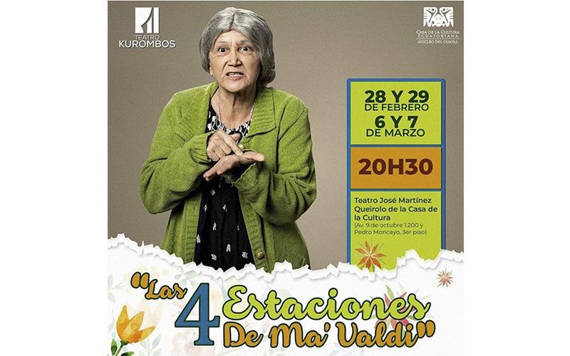 Photo of Estreno de la obra «Las 4 estaciones de ma' Valdi» en la Casa de la Cultura