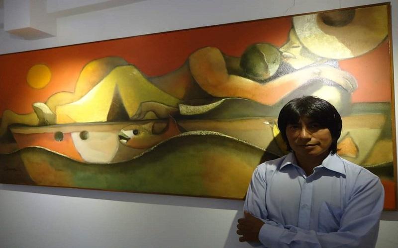 Photo of Olmedo Quimbita inaugura su exposición «Delirios, formas y mar»