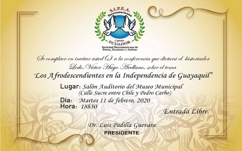 Photo of Conferencia «Los afrodescendientes en la Independencia de Guayaquil» en el Museo Municipal