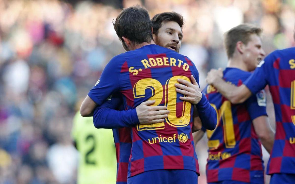 Photo of 2-1. Sufrida victoria del Barça ante un ambicioso Getafe