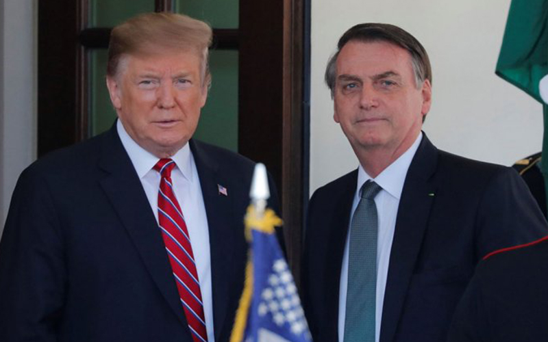 Photo of Trump cenará con Bolsonaro esta noche en su residencia privada de Florida
