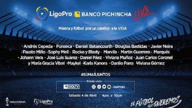 Photo of LigaPro realizará un concierto benéfico con artistas y futbolistas este sábado 4 de abril