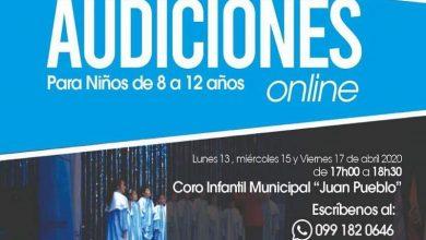 Photo of Audiciones online para ser parte del Coro Infantil Municipal «Juan Pueblo»