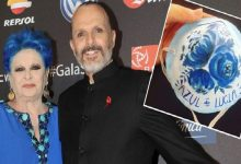 Photo of Miguel Bosé homenajea a su madre con cubrebocas azules