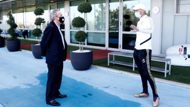 Photo of Florentino Pérez, de visita en el entrenamiento del Real Madrid