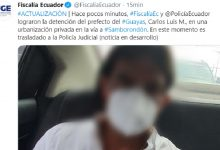 Photo of Fiscalía logra detención del prefecto del Guayas Carlos Luis Morales
