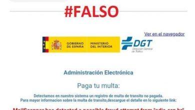 Photo of Cuidado con un falso email de la DGT que reclama el pago de una multa de tráfico