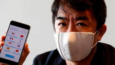 Photo of Japoneses crean mascarilla que se sincroniza con tu smartphone