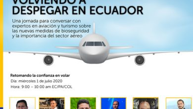 """Photo of Mañana se realizará el webinar «Volviendo a despegar en Ecuador"""""""