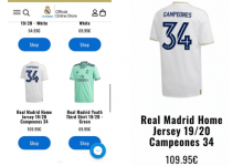 Photo of Real Madrid puso a la venta la camiseta de campeón de su Liga número 34