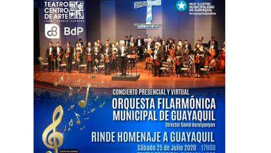 Photo of La Orquesta Filarmónica Municipal de Guayaquil rinde homenaje a la Ciudad en sus 485 años de Fundación