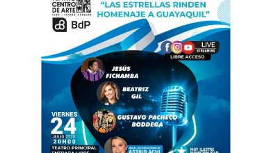 Photo of Concierto presencial y virtual «Las estrellan rinden homenaje a Guayaquil»