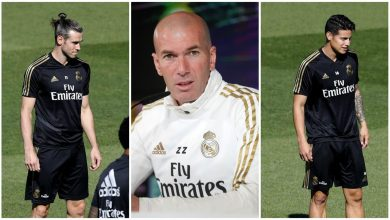 Photo of Zinedine Zidane excluye de los convocados a James Rodríguez y Gareth Bale