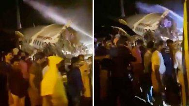 Photo of Al menos 16 muertos después de que un avión de Air India Express se partiera en dos al salirse de la pista durante el aterrizaje