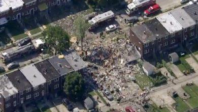 Photo of Explosión de gas en Baltimore: tres casas quedaron destruidas y murió una persona