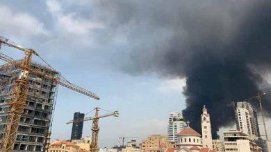 Photo of Gran incendio en el puerto de Beirut, semanas después de la devastadora explosión