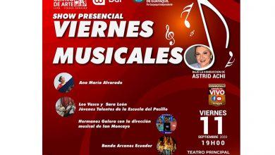 Photo of Show presencial «Viernes musicales» en el Teatro Centro de Arte