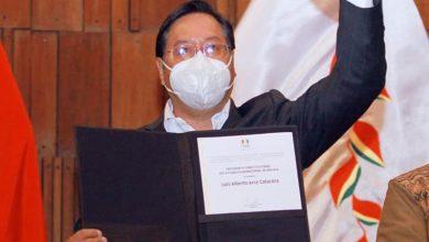 Photo of Entregan credenciales a Luis Arce como presidente electo de Bolivia