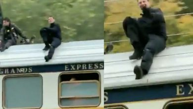 Photo of Captan a Tom Cruise ahora grabando arriesgada escena sobre tren